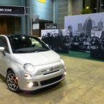 Fiat 500 motoring through the Sound Zone