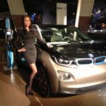 Diana P. shows off the new BMW i3