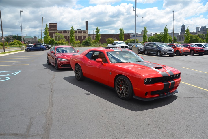 Hellcat rides at FCA Fleet Preview