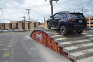 Jeep Compass, staircase - FCA Fleet Preview